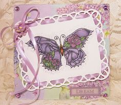 "Crissy Armstrong ""Rose Butterfly"" card"