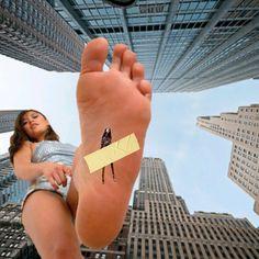 Asian Giantess Foot Crush
