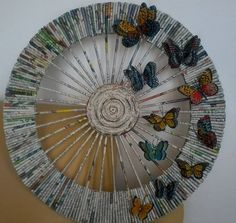 Recycled Magazine Crafts, Recycled Paper Crafts, Paper Crafts Origami, Wire Crafts, Diy Paper, Newspaper Basket, Newspaper Crafts, Recycle Newspaper, Craft Work For Kids