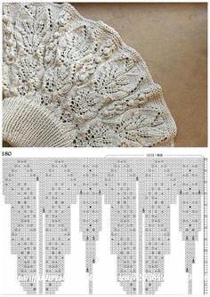 Fall Knitting, Lace Knitting Patterns, Knitting Charts, Easy Crochet Patterns, Diy Crochet, Knitting Stitches, Stitch Patterns, Diy Crafts Knitting, Crochet Clothes