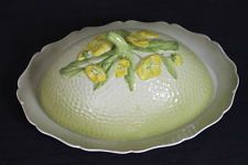 vintage yellow & green Carlton Ware Buttercup Butter Cheese Dish England