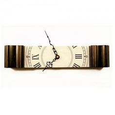 This modern take on the classic grandfather clock retains the same elegant design of a grandfather clock, but only requires a mere fraction of the space. A literal slice of the traditional! Sock Buns, Time Lords, Personalized Items, My Favorite Things, My Style, Gifts, Stuff To Buy, Grandfather Clocks, Accessories