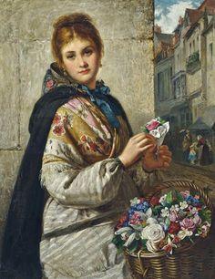 haynes king art | Haynes King - The Flower Seller 1876