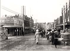 Glenferrie Road, Hawthorn, looking north from railway crossing c.1910