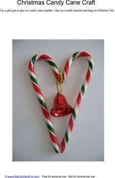 Candy Cane Crafts | Christmas Candy Cane Heart Craft