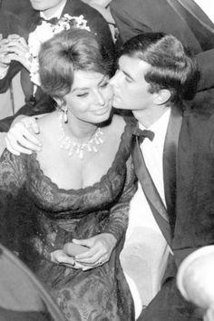 Anthony Perkins and Sophia Loren