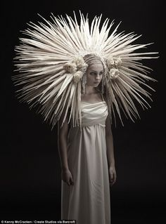 white headdress