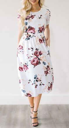 $29.99 Chicnico Feeling Gorgeous Floral Print Dress