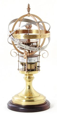 English orrery clock. So cool!