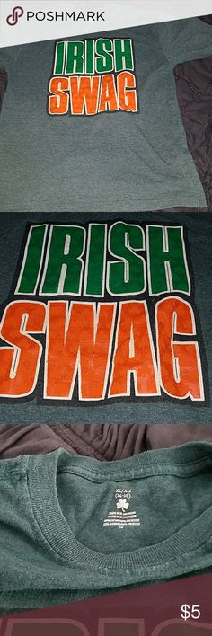 Boys Paddy's day tee Irish Swag St. Paddys day shirt. Worn 2 times Shirts & Tops Tees - Short Sleeve