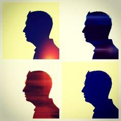 Silhouettes.  Original photos courtesy of Judy.  #silhouettes #shadows
