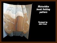 Motorbike bookfolding pattern by Bookfoldanddecoupage on Etsy