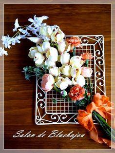 フラワーレッスン ♡フレームアレンジ♡ 横浜桜木町フラワーアレンジメント&ポーセラーツ教室サロンドブルーバーユ