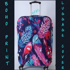 """NEW BOHO LUGGAGE PROTECTION COVER TRAVEL & SHIELD YOUR LUGGAGE IN STYLE WITH THIS UNIQUE & RECOGNIZABLE SUITCASE COVER! Does not include luggage--COVER ONLY!!  FEATURES  Protects, secures & identifies your luggage  Long lasting, extremely durable, & washable Spandex material  Fits most all major luggage brands  Anti-theft, anti-dust, anti-scratch  FAST & EASY to apply & remove SIZING: SMALL: Suitable for 19""""~22""""  MEDIUM: Suitable for 23""""~27""""  No offers on retail items please  NO TRADES Bags…"""