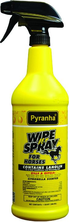 WIPE N'SPRAY FLY PROTECTION SPRAY FOR HORSES