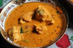 Saturday means it should be fish in my house, i usually make this and this curry. Because my hubby like a coconut based fish curry th. Spicy Recipes, Curry Recipes, Fish Recipes, Seafood Recipes, Indian Food Recipes, Indian Foods, Recipies, Tamarind Fish Curry, Easy Fish Curry Recipe