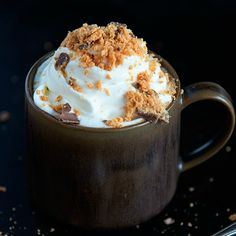 Slow Cooker Butterfinger Hot Chocolate