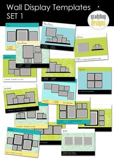 Wall Display templates for photo groupings