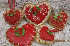 fancy valentine cookies - Google Search