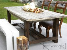 DIY outdoor farmhouse table MAKE OUT OF PALLETS OR CEDAR