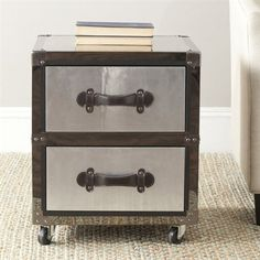 Two Drawer Rolling Chest, THAT I'M GOING TO TRY AND CONVERT INTO A LIVINGROOM END TABLE THAT ALSO SERVES AS A PET BED AND HOME FOR MY YORKIES!! BOTTOM DRAWER WILL BE PLUSH BED, PICS OF DOGS ON THE WALLS, MAGNETIC SCREEN TO SELF CLOSE, NAME PLATES FOR EACH OF THEM. IF YOU HAVE ANY TIPS SEND THEM MY WAY!