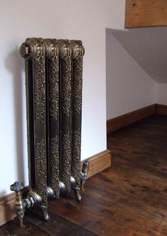 Custom Cast-iron radiator.  Um... I never thought I'd love how a steam radiator looked.