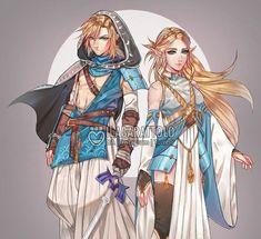 Link and Zelda billowy desert clothes | Legend of Zelda Breath of the Wild