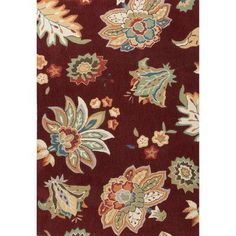 JaipurLiving Blossom Hand-Tufted Red/Yellow Area Rug Rug Size: