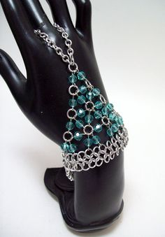 slave bracelet bellydance chainmaille by Eternalelfcreations, $30.00