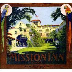 Mission Inn Riverside Orange Citrus Fruit Crate Label Art Print