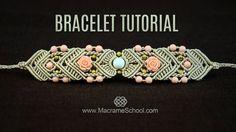 Mirrored Macramé Bracelet TUTORIAL by Macrame School