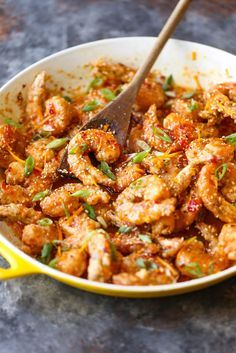Looking for a new weeknight dinner idea? Sweet, spicy and full of flavor, this Firecracker Shrimp recipe is a must-try 30 minute meal.