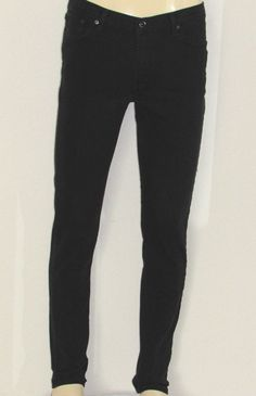 Levis Black Stretch Denim Jeans SUPER SKINNY Size 34 x 34 EXCELLENT 34x34 Slim #Levis #SuperSkinny