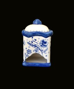 Hand Painted Tea Bag Dispenser Ceramic Tea by MineByDesignStudio, $40.00