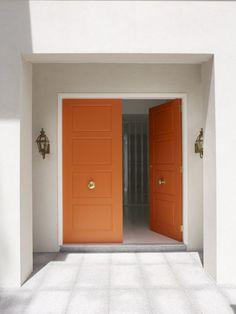 Delicious Orange doors.   desire to inspire - desiretoinspire.net - On theceiling