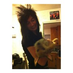 Jake Pitts and his dog Trixy ❤ liked on Polyvore