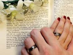 Our rings. <3 Library wedding