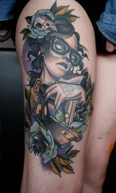 Edgy Seamstress Tattoo by Shaun Bailey