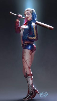 Suicide squad Harley Quinn jacket is sexy and seductive attire, best feature is Harley Quinn holster. Joker Y Harley Quinn, Harley Quinn Drawing, Margot Robbie Harley Quinn, Joker Dc, Joker Cosplay, Personnage Dc Comics, Harley Queen, Suicide Squad, Teen Titans Raven