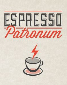 Espresso Patronum coffee typography poster by Noodlehug