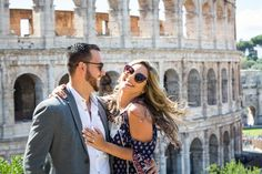 Fun at the Colosseum during an engagement photography session in #Rome. Photo by Andrea Matone lifestyle photography