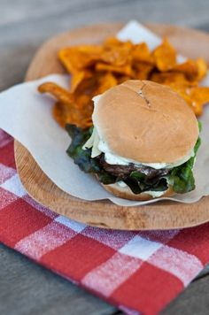 Hamburger Sliders with Cilantro Lime Spread from @addapinch