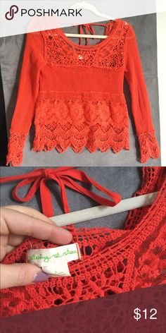 UO staring at stars Small crochet beautiful boho top! Urban Outfitters Tops