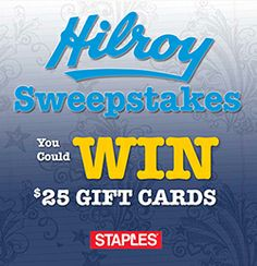 Win $25 Staples Gift Cards