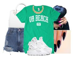 """Update."" by deasia-still-thugin-honey ❤ liked on Polyvore featuring Michael Kors and NIKE"