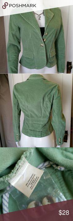 St Johns Bay Corduroy Blazer Excellent condition. Sage green. Petite sizing. St. John's Bay Jackets & Coats Blazers