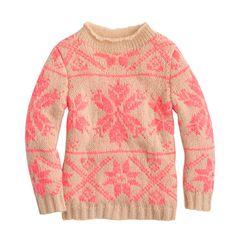 girls snowflake sweater | jcrew