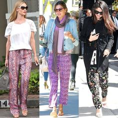 Celebrity-Style-Hippie-Pants-Outfit How to Wear Hippie Pants for Women - 25 Outfit Ideas