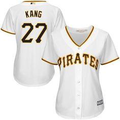 f09e131cb36 MLB Women s Pittsburgh Pirates - Jung Ho Kang Majestic White Home Cool Base  Player Jersey -