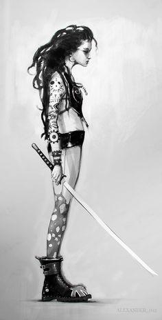 punk_girl_sketch by AlexanderBrox0101 on deviantART